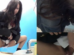 Strange Asian Teen Piss