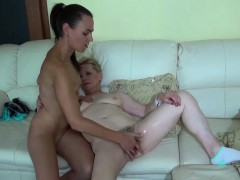 oldnanny granny and woman lesbian toysex