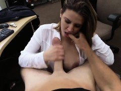milf selling her wrist watch and screwed by pawn dude