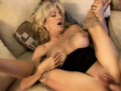 Stacked Blonde Mom Sucks A Cock And Braces Herself For A Hard Banging