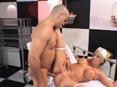 Big Breasted Blonde Nurse Expressing Her Passion For Hardcore Anal Sex