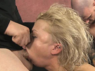 Blonde Dirtbag Nadia White Choked And Face Fucked Raw