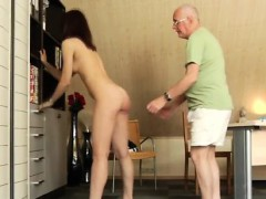 old guy fucks little slut and old lesbian and girl woman ever