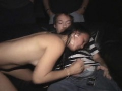 hot small tit asian gang fucked in porno theater
