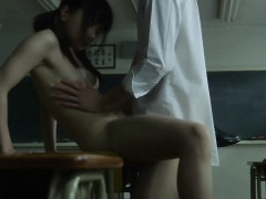 Cute Japanese Students Gets Fucked Right After Class