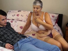 granny savana banged with really hard stick