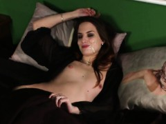 frisky beauty gets cumshot on her face blowing all the load  porno