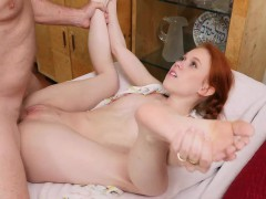 Young redhead Dolly fucks with old guy