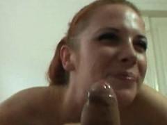 Sexy Czech Redhead Got Huge Facial