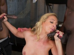 Sexy Cougar Cheri Deville Gets Spit Roasted By Studs