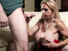 Huge Boobs Cock Hungry Stepmom Welcomes Home