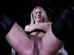 Cocksucking Aj Applegate tormented by maledom