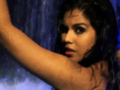 Bollywood Dancer Bathed In Water