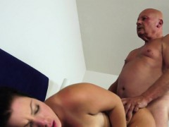 big titted woman creampied by an old guy