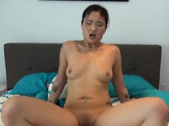 asian shy girlfriend rips her smooth bald amateur cunt