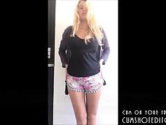 gorgeous busty teen striptease