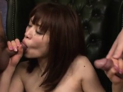 maki sarada wants cum on face after proper cock blowing