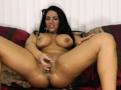 stacked brunette bella reese makes her pussy all wet with a huge dildo hot girls tube