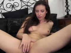 All-Natural Brunette Casey Calvert Masturbating
