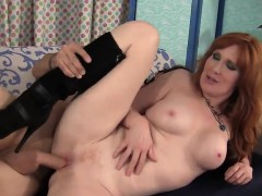 Redhead Milf Swallows A Massive Load