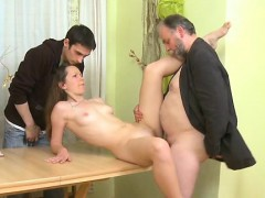 hot young playgirl drilled by old man