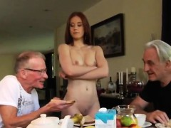old dude sexy babe minnie manga tongues breakfast with john an