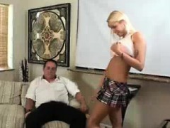 Old Man Is So Happy Teen And Milf Suck His Cock