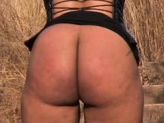 Ethnic Ebony In Corset Enduring Nipple Pain By Rough Lover