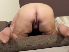 nasty czech chick gapes her spread vagina to the strange