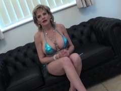 Unfaithful British Mature Lady Sonia Shows Off Her Heavy Boo