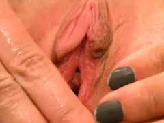 Erotic Girl Is Gaping Wet Pussy In Closeup And Having Orgasm