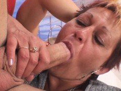 Hot grandma pleases her neighbour