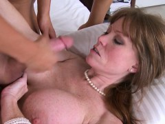 Bigtitted Mature Lady Trio With Teen Couple