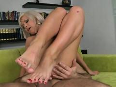 Russian Pornstar Foot And Anal Cumshot