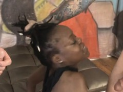 balck-ghetto-trash-destinee-jackson-gagging-on-cock