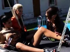Pissing In Action - Nessa Devil Lesbian Pissing