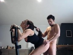 This Brunette Sex Bomb Gets Fucked Hard