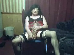 Crossdresser In Underwear