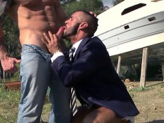 Muscle Gay Outdoor With Facial
