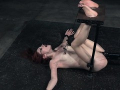 Redhead Submissive Gets Her Nipples Tormented