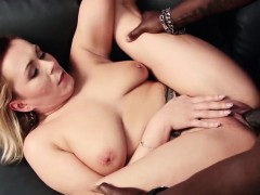 cute blonde milf with bog boobs enjoys being boned hard in