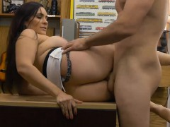 Busty Brunette Woman Banged By Pawn Man In His Pawnshop