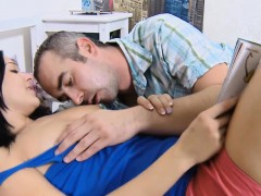 Naughty Virgin Gal Rides And Sucks Ramrod Like Avid