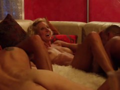 Amateur swingers make their first full swap
