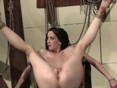 Tied Submissives Pussy Fucked And Rubbed