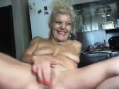 Busty Granny Solo Action