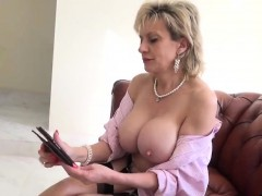 Unfaithful British Milf Lady Sonia Flaunts Her Heavy Hooters