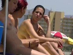 sexy goddesses on the nude beach voyeur video