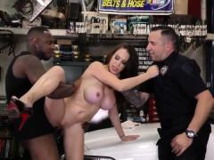 woman gets big black cock bukkaked