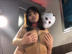 Perfect Ladyboy Ayumi Tied Up Blowjob